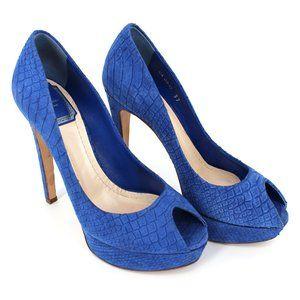 Miss Dior Peep Toe Python Snakeskin Embossed Heels